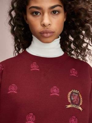 Tommy Hilfiger Zip Detail Crest Embroidery Sweatshirt