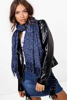 boohoo Emily Mixed Fleck Knitted Scarf
