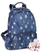 Bari Lynn School Denim Backpack