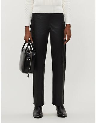 Rag & Bone Jane slim-fit straight leather trousers