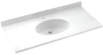"Swan Chesapeake Solid Surface 31"" Single Bathroom Vanity Top Top Finish: White"