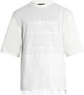 Longjourney Nash Thank You-print cotton-jersey T-shirt