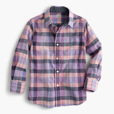 J.Crew Kids' madras shirt