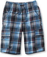 L.L. Bean Boys Cotton Twill Cargo Shorts, Plaid