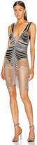 Area Crystal Cupchain Slip Dress in Crystal & Silver | FWRD