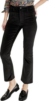 J.Crew Women's Denim Pants and Jeans BLACK - Black Velvet Billie Pants - Women