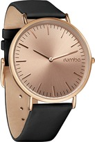 RumbaTime Soho Patent Leather Gold Watch