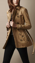 Burberry Short Technical Cotton Trench Coat