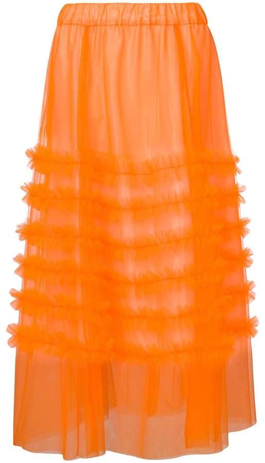 P.A.R.O.S.H. long ruffle skirt