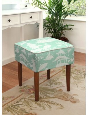 World Menagerie Adagdak Upholstered Vanity Stool Color: Aqua