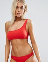 Stella-McCartney-Lingerie Stella McCartney Lingerie Stella McCartney One Shoulder Neoprene Mesh Bikini Top