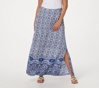 Tolani Collection Petite Printed Pull-On Woven Maxi Skirt