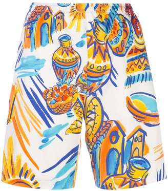 Maryam Nassir Zadeh Graphic Print Shorts