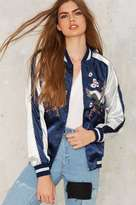 Factory Light as a Feather Embroidered Bomber Jacket