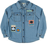 Kenzo Badge-Patchwork Chambray Shirt