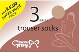 Joanna Gray Womens/Ladies 70 Denier Trouser Sock (3 Pairs)