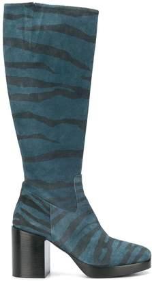 A.F.Vandevorst zebra print knee-high boots