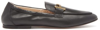 Tod's T-logo Leather Loafers - Black