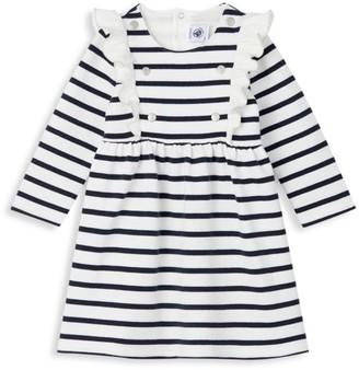 Petit Bateau Baby Girl's Striped Ruffle Dress