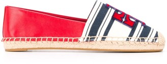 Tory Burch Ines striped-panel espadrilles