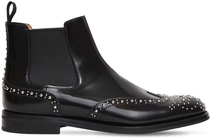Church's 20mm Ketsby Studded Brogue Leather Boots