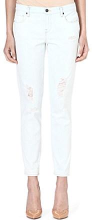 Genetic Denim Alexa cropped straight-leg mid-rise jeans