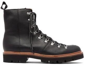 Grenson Brady Leather Hiking Boots - Mens - Black