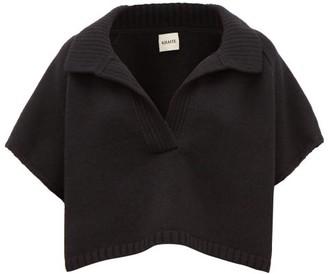 KHAITE Sylvie Open-collar Cashmere Sweater - Black