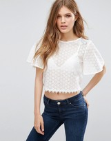 Girls On Film Crochet Crop Top