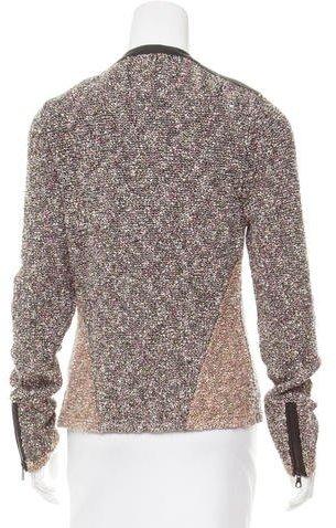 Rag & Bone Knit Leather Trim Jacket
