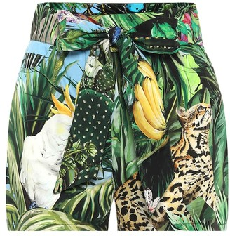 Dolce & Gabbana Printed cotton-twill shorts