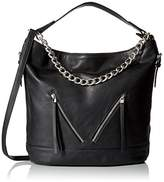 Dolce Girl Convertible Hobo with Chain Convertible Shoulder Bag