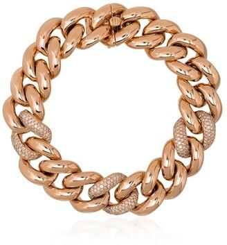 Shay 18kt Rose Gold Jumbo-Link Diamond Bracelet