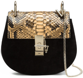 Chloé Drew Python Shoulder Bag