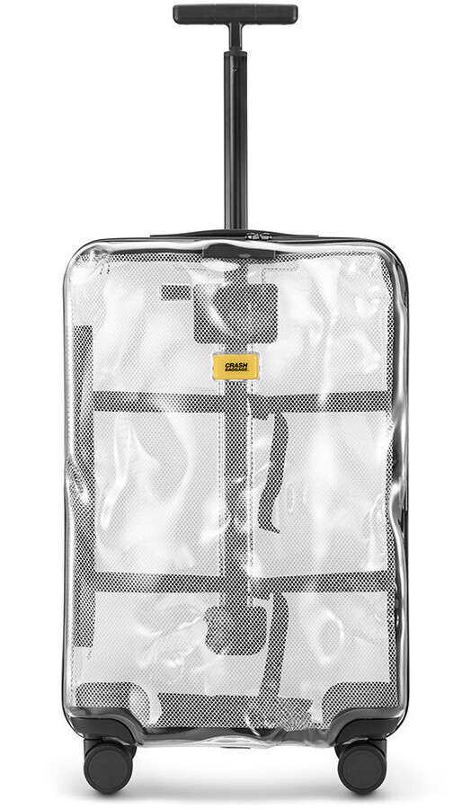 CRASH BAGGAGE Share Suitcase - Clear - Medium