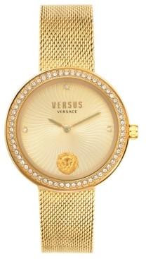 Versus By Versace Women's Lea Gold-Tone Stainless Steel Mesh Bracelet Watch 35mm