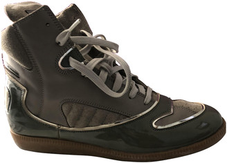 Maison Margiela Green Patent leather Trainers