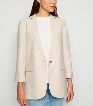 New Look Long Sleeve Button Up Blazer