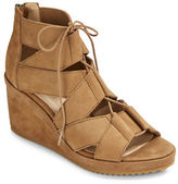 Eileen Fisher Dibs Leather Wedge Sandals