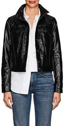 Lisa Perry Women's Snazzy Coated Cotton-Blend Trucker Jacket - Black