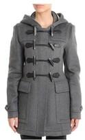 Burberry Women's Grey Wool Coat.