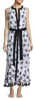 Proenza Schouler Falling Flowers Belted Cover-Up Dress