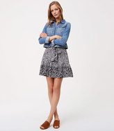 LOFT Paisley Tie Waist Flounce Skirt