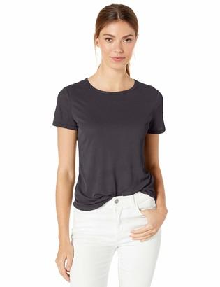 Splendid Women's Ribbed Crewneck Short Sleeve Tee T-Shirt