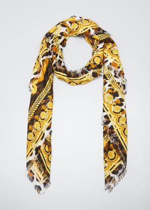 Versace Barocco Acanthus Silk Scarf