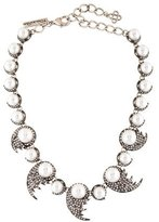 Oscar de la Renta Faux Pearl & Crystal Collar Necklace