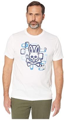 Psycho Bunny Dorset Graphic Tee (White) Men's Clothing