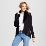 XOXO Women's Faux Fur Collar Cardigan Juniors')