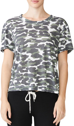 Monrow Animal Camo Print Short-Sleeve T-Shirt