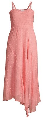 Rebecca Taylor Dot Embroidered Midi Dress